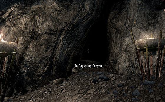 skyrim how to get to dayspring canyon